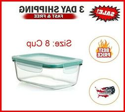 OXO Good Grips 8 Cup Smart Seal Leakproof Glass Rectangle Fo