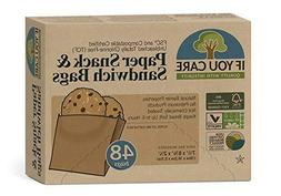 IF YOU CARE Unbleached Sandwich Bags, Disposable Food Storag