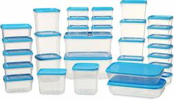 Kitchen Polka Plastic Food Storage with Clip Lock Lid Set of