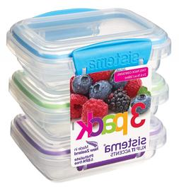 Sistema Klip It Accents Collection Food Storage Containers 6