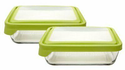 11 cup rectangular food storage containers