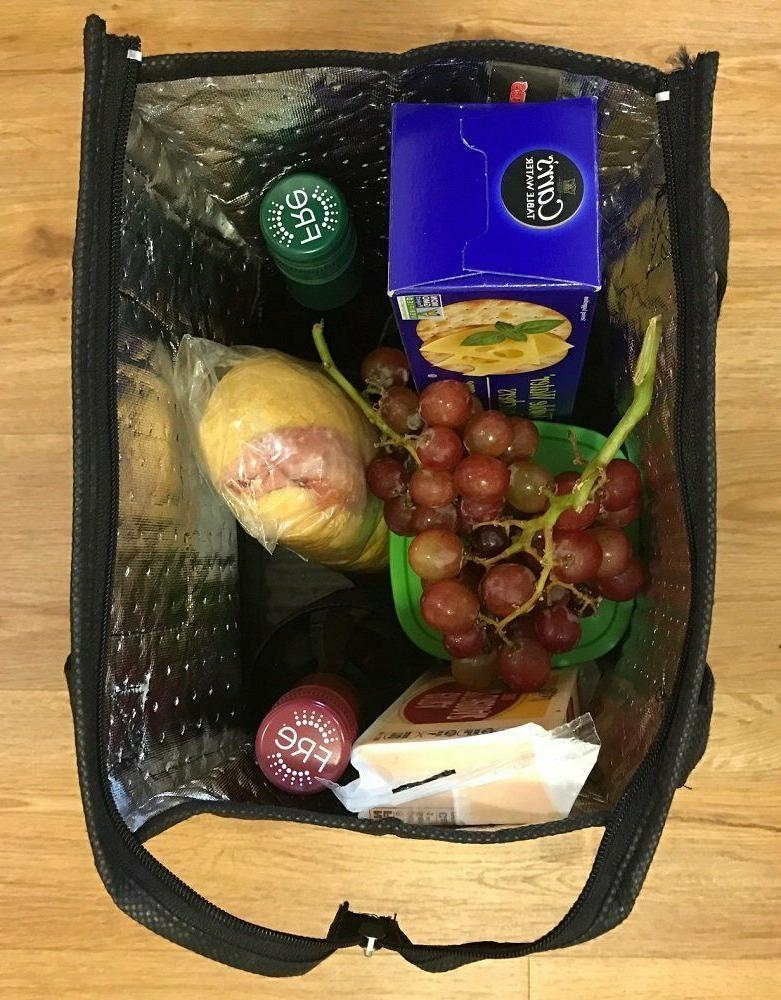"""14"""" Thermo Insulated Tote Bag Containers Bag Shopping Food Drinks Storage"""