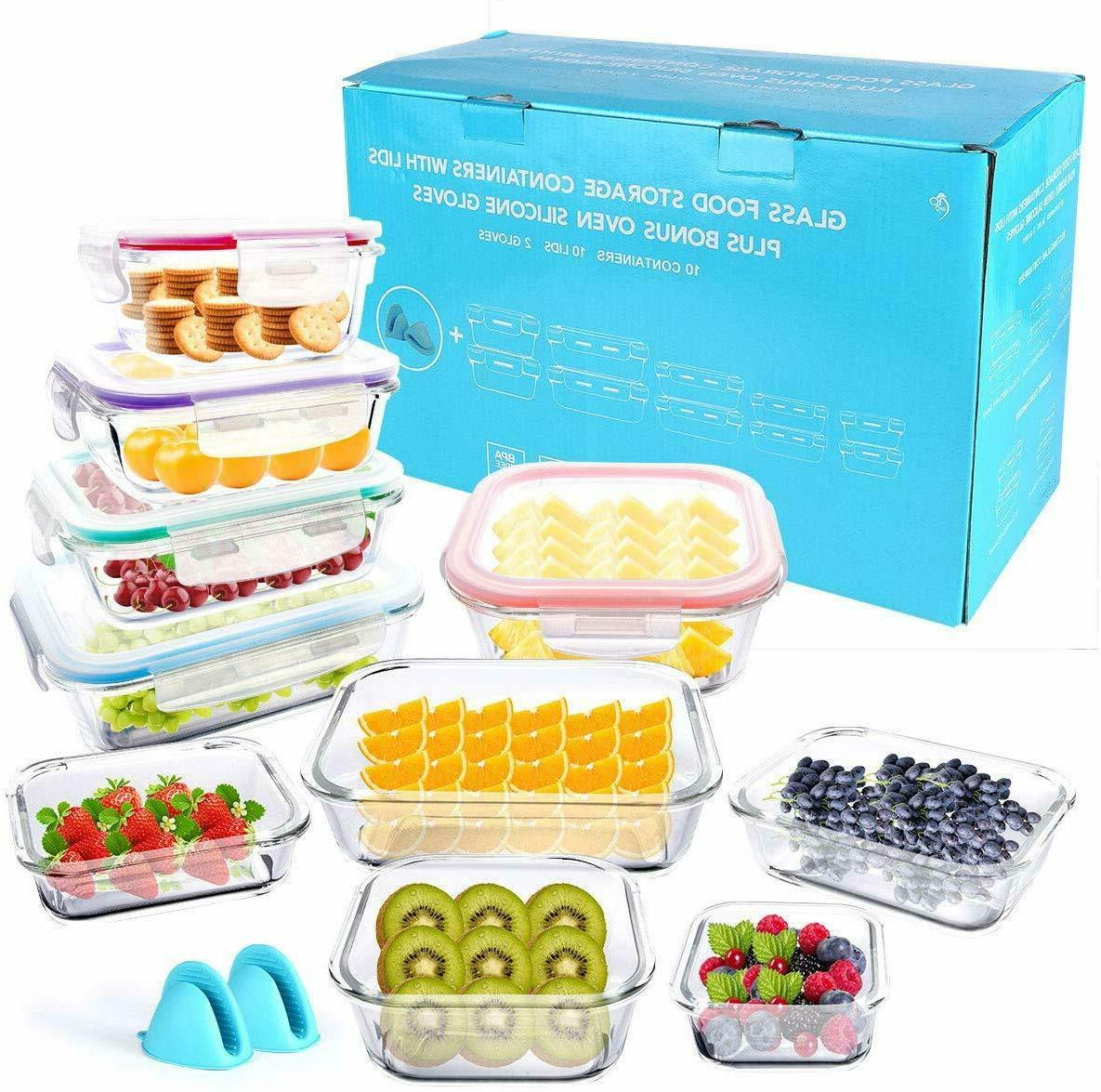 20 Storage Containers - Snap Lock