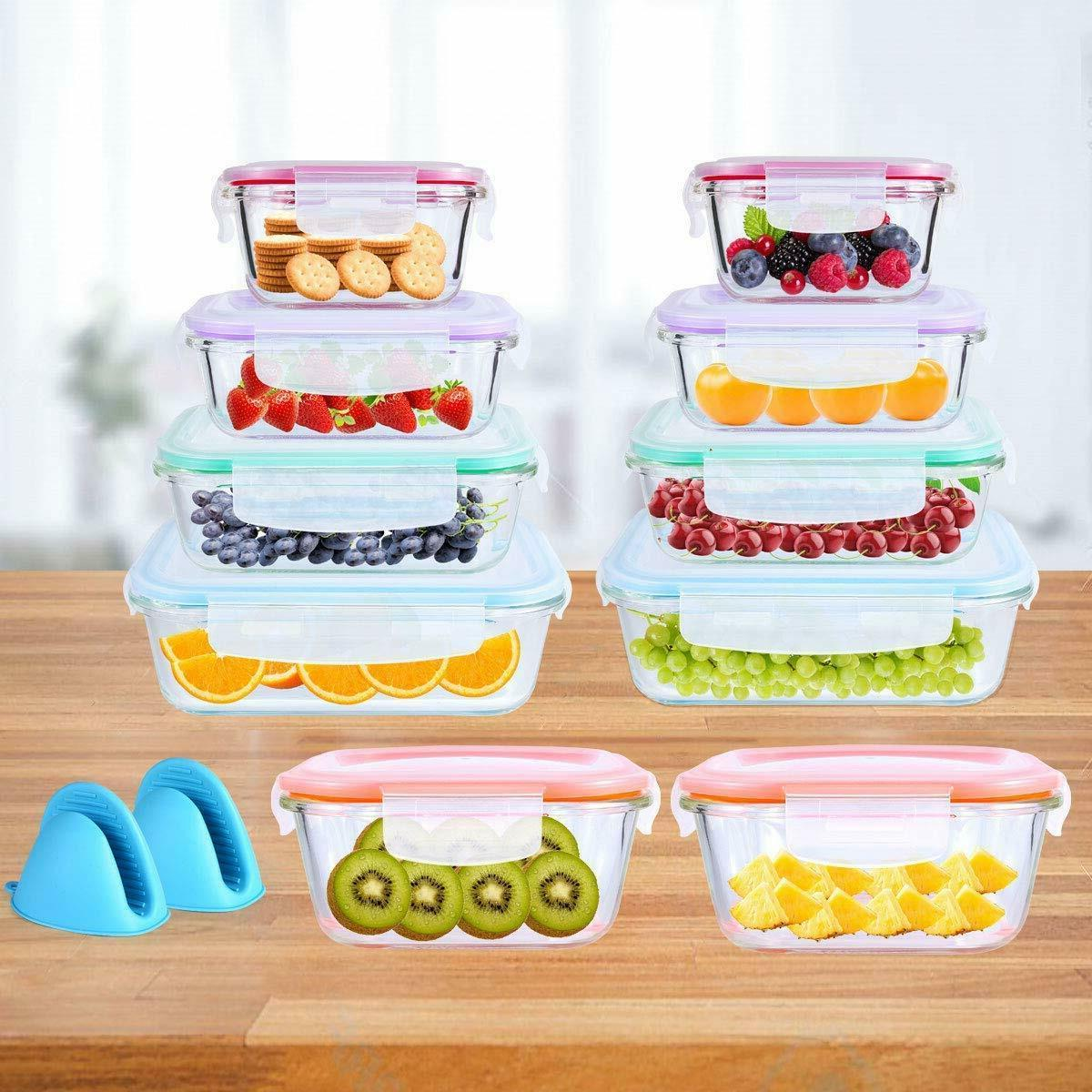 20 Piece Containers Snap Lock