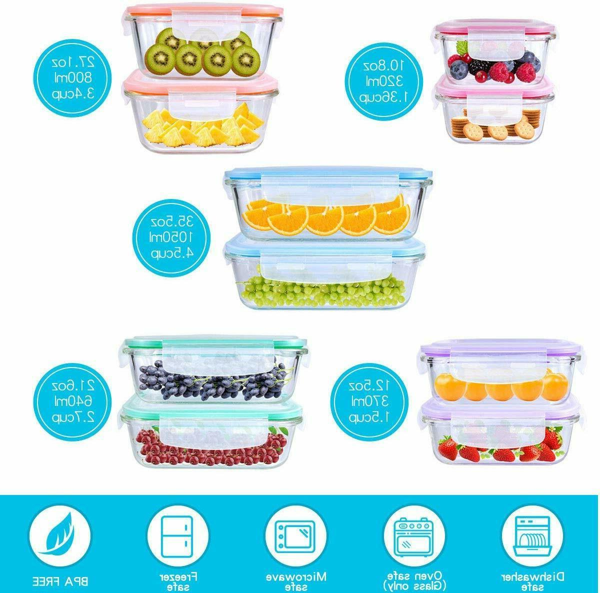 20 Storage Airtight Containers Lock Lids
