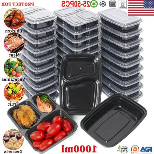20 x reusable meal prep containers microwave