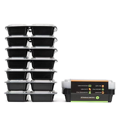 Meal 3 Compartment Food Airtight Lunch Box for Prep, 21 and Control, of