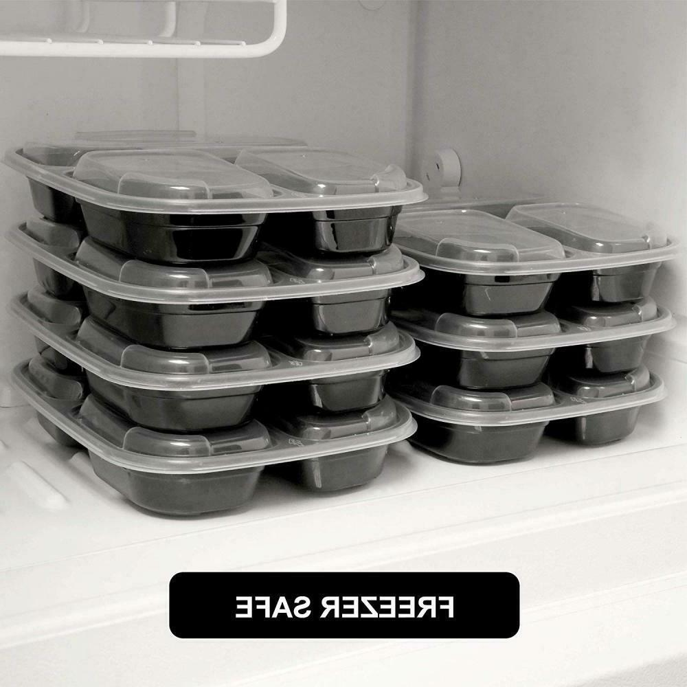 30PACK Containers Food Storage 3 Reusable Microwave Safe