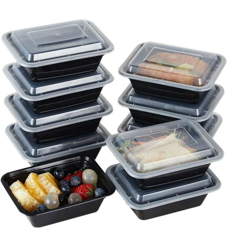 50 Containers 1 Compartment Storage Boxes