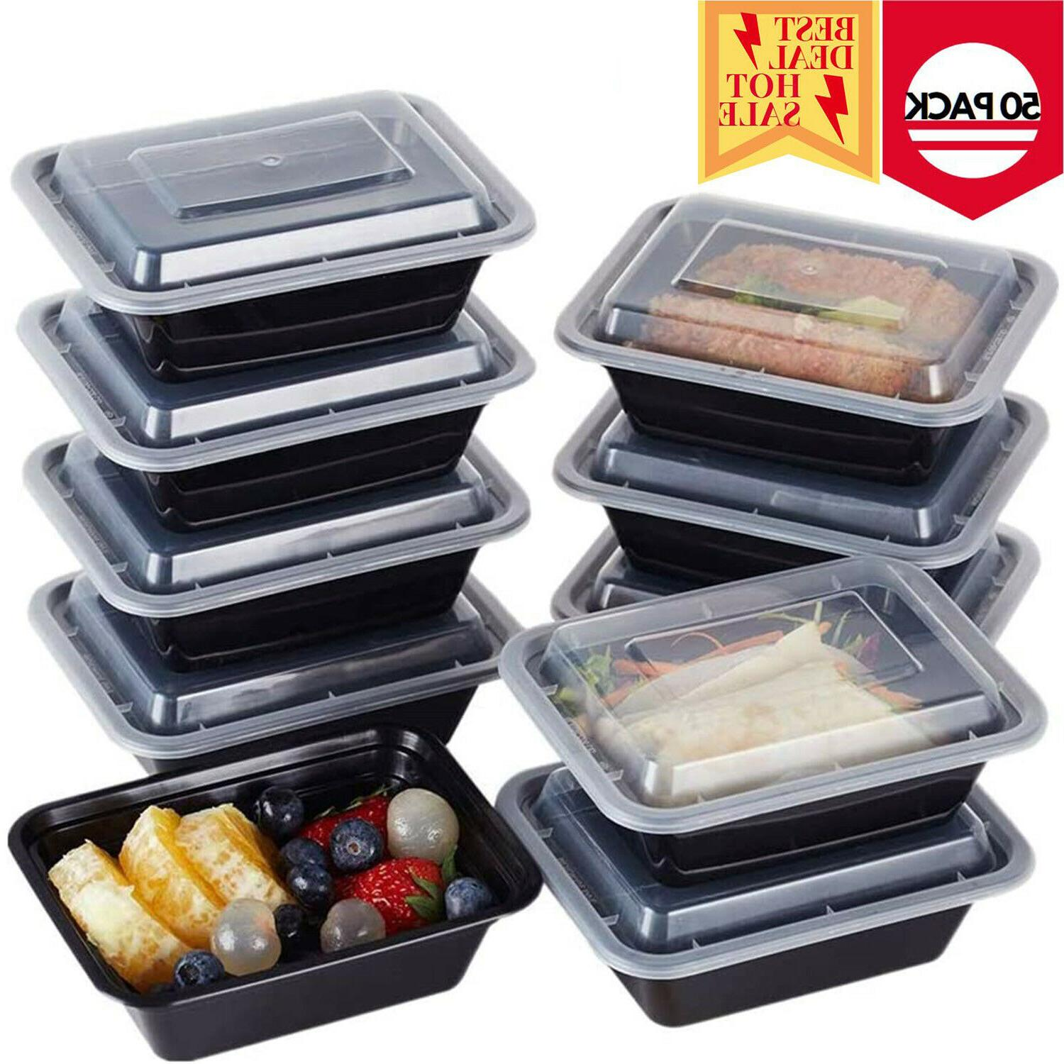 50 Meal 1 Compartment Boxes Microwave Safe