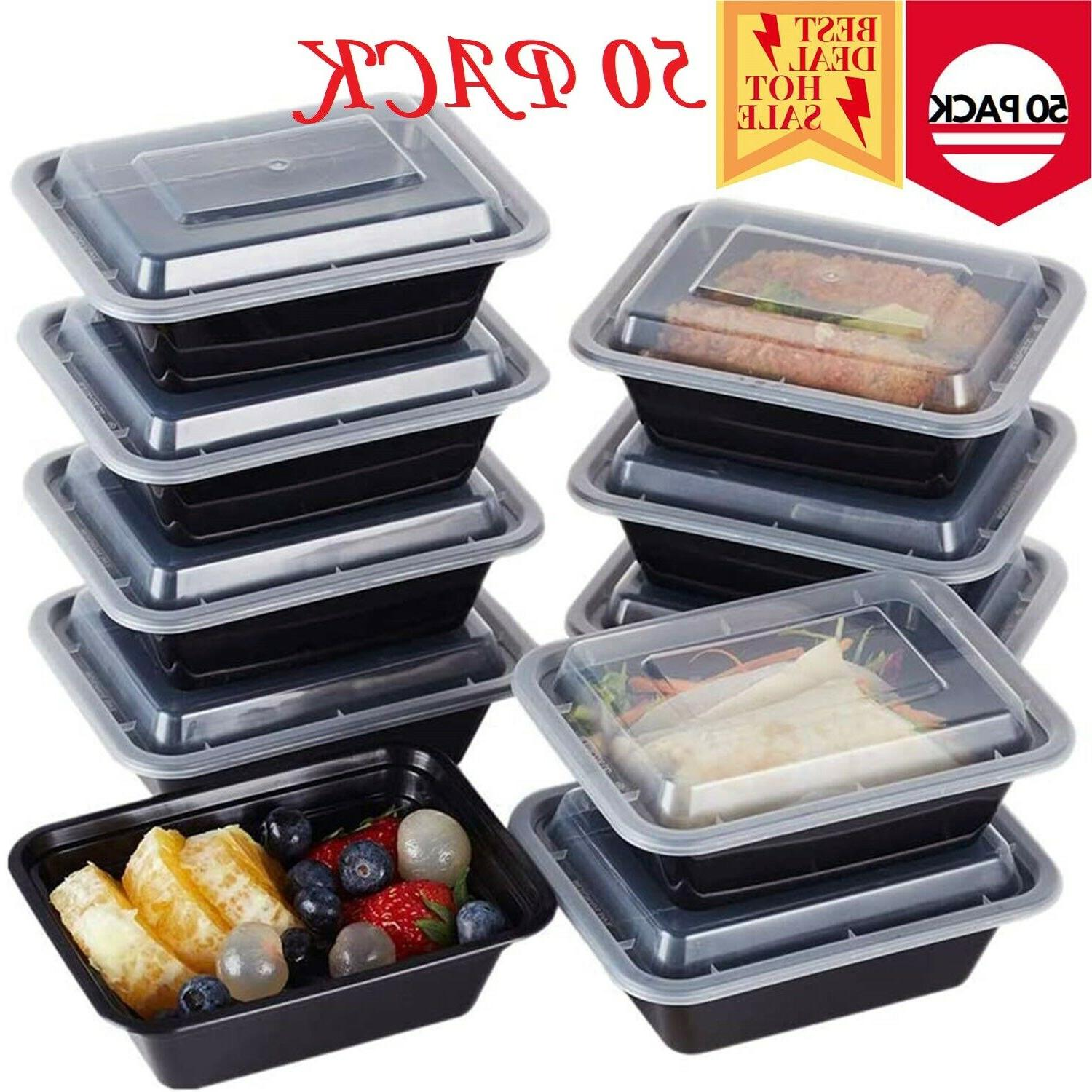 48 meal prep containers 1 compartment food