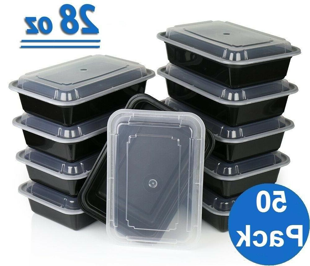 50 Meal Containers 1 Food Boxes