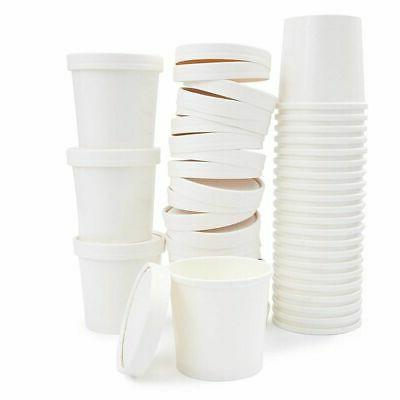 50 Pack 12oz Paper Food Cups