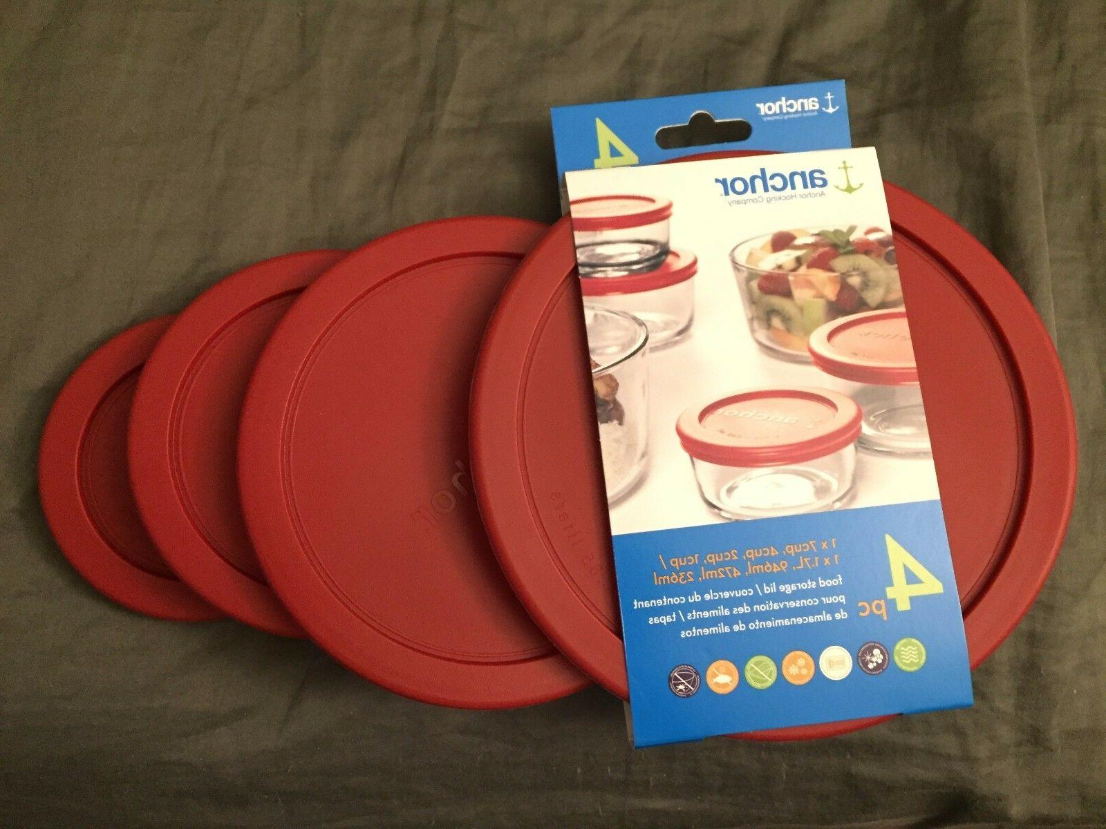 Anchor Hocking Storage Lid Red Cover