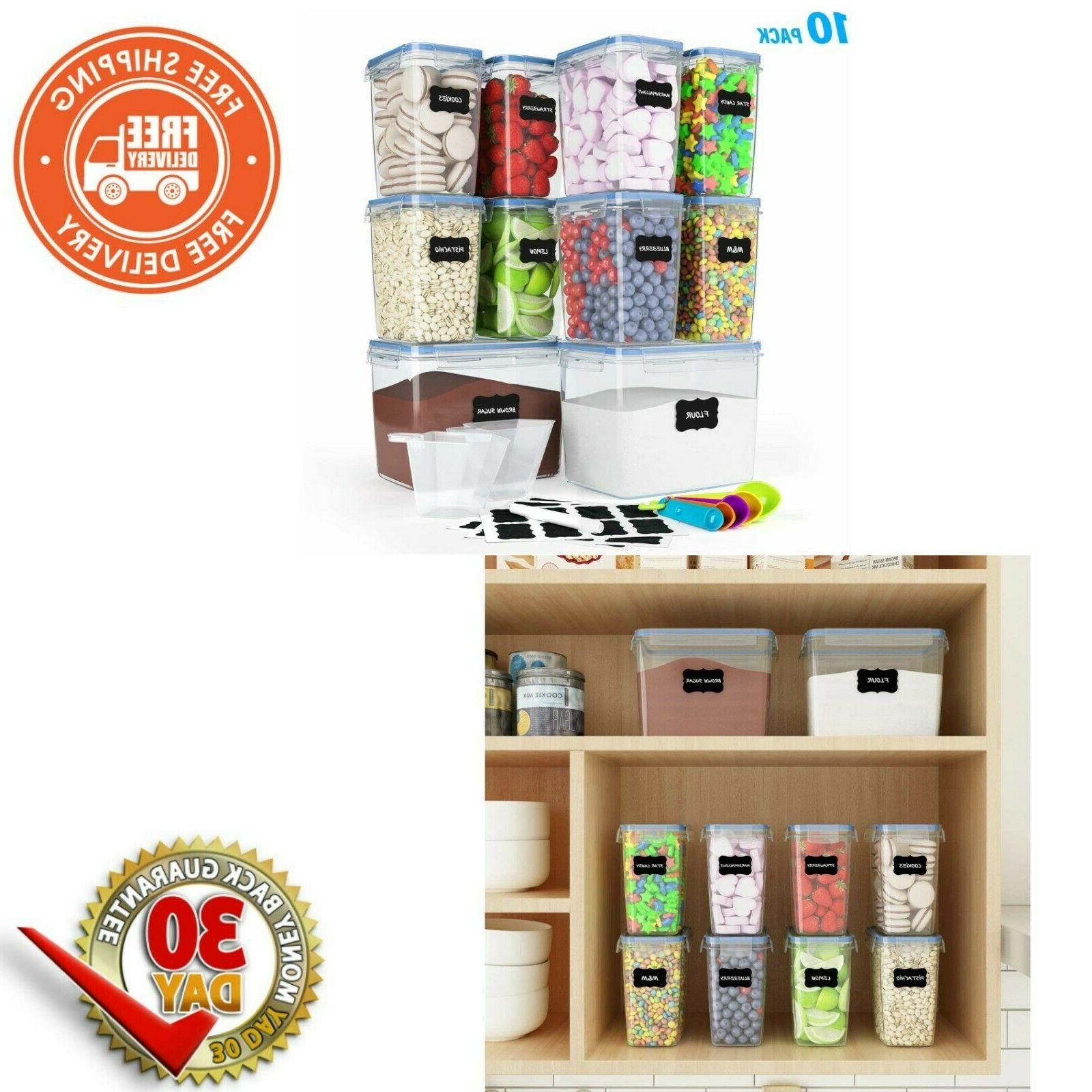 airtight food storage container set 10pack pantry