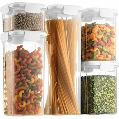 airtight food storage containers with lids 5piece