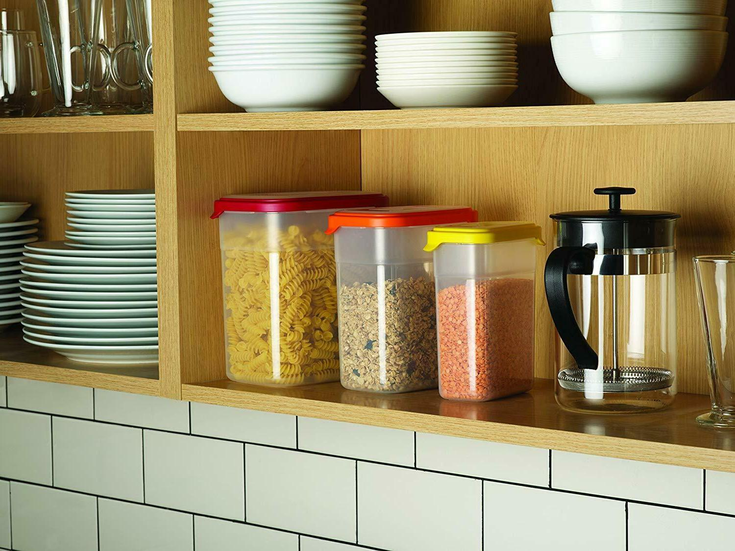 airtight nestable storage 6 piece food containers