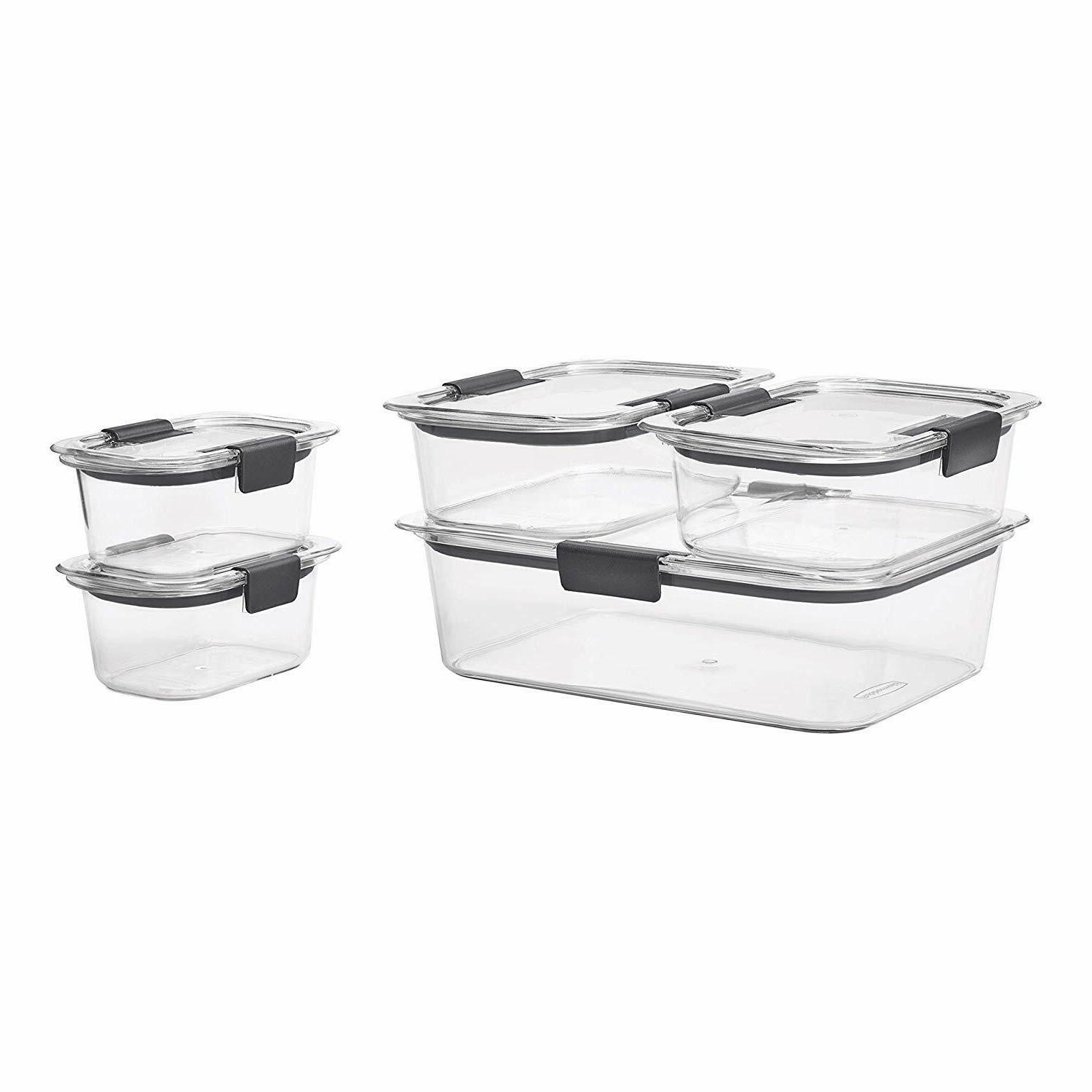 Rubbermaid Containers Airtight Lids Free Set Of