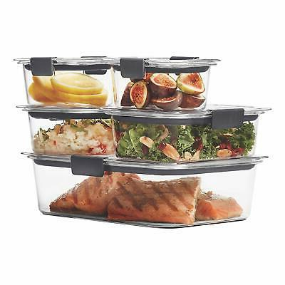 Rubbermaid Brilliance Storage Containers with Airtight Lids,