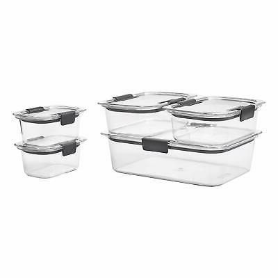 Rubbermaid Brilliance Storage Containers Airtight Lids,