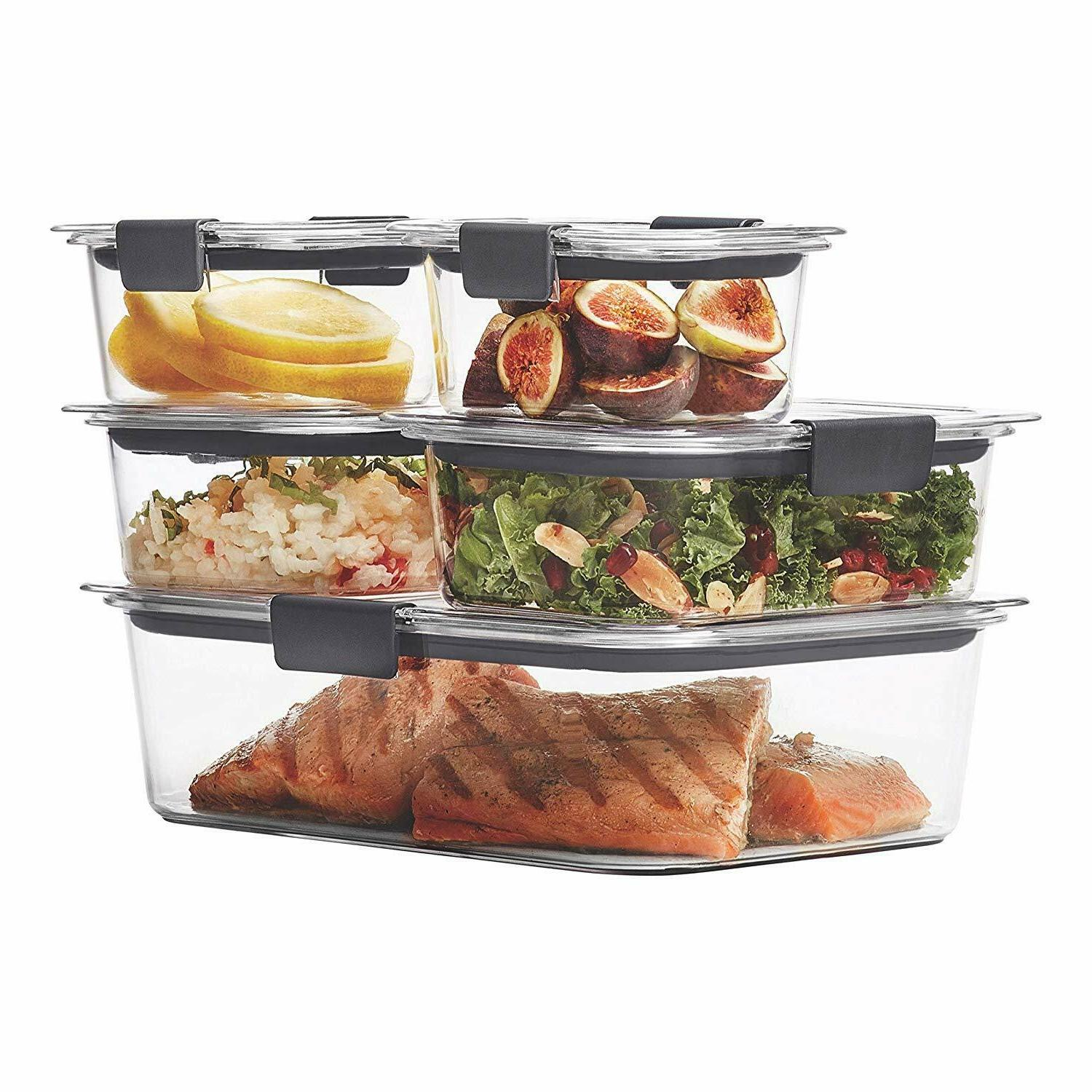 Rubbermaid Brilliance Food Containers BPA Free Set Of