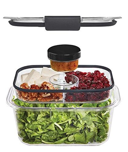 Rubbermaid Brilliance Salad Container, Deep, 4.7 Cup,