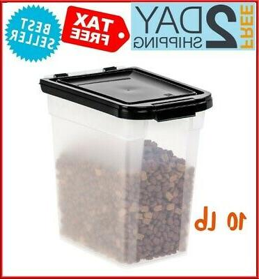 dry pet food storage sealed container bin