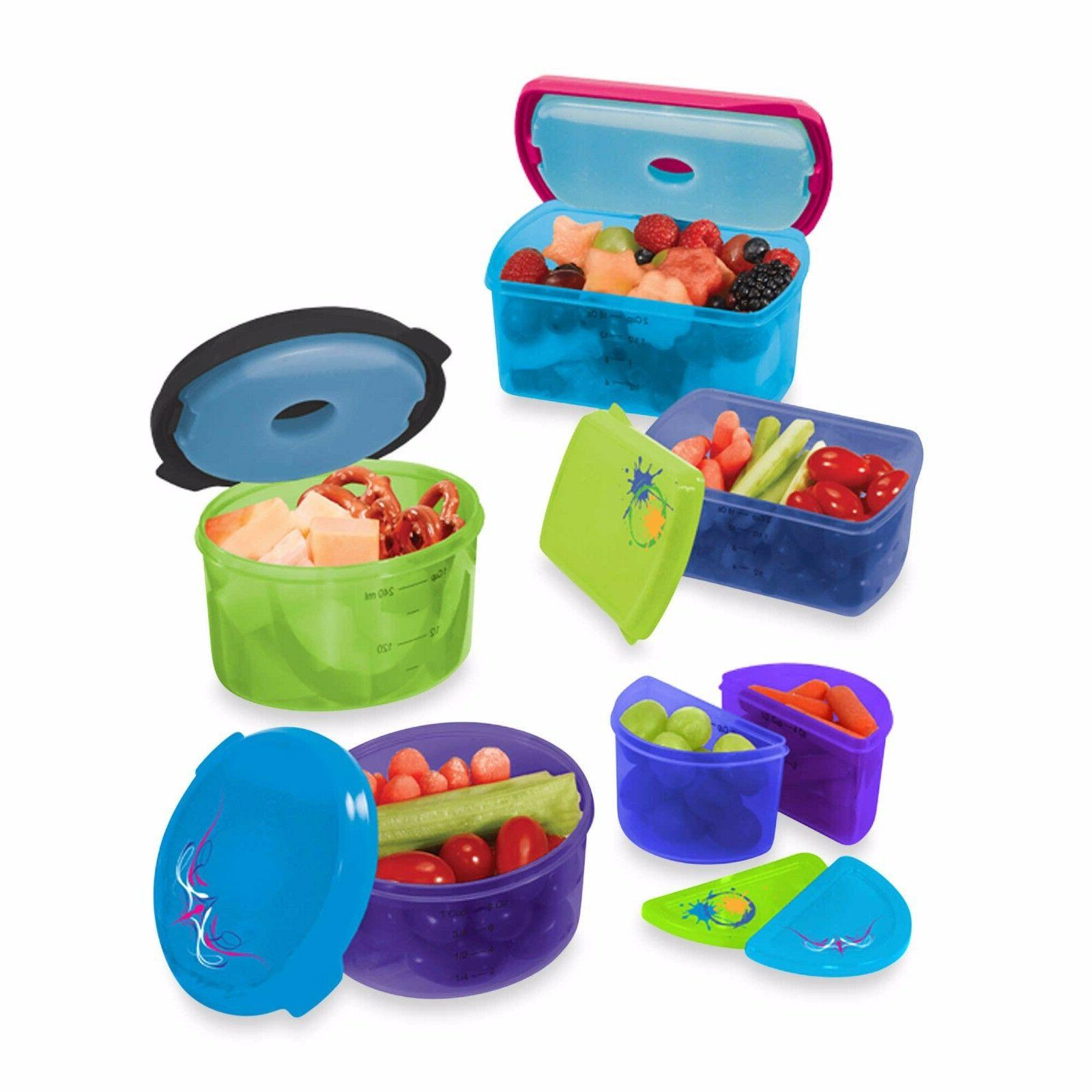 Fit & Fresh Kid's 14-Piece Food Storage Container Set with R