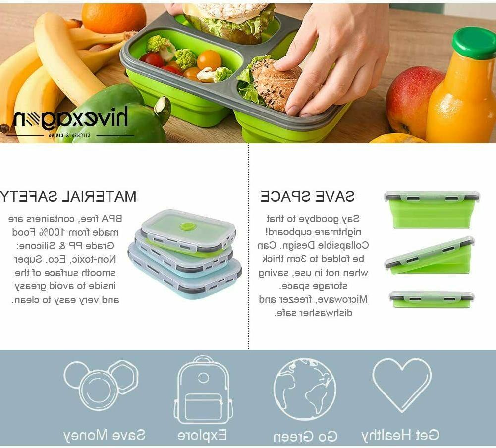 Food Reusable Silicone Lunch Box