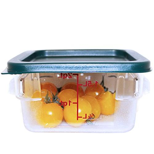 Square Polycarbonate Containers Lids - Clear Containers