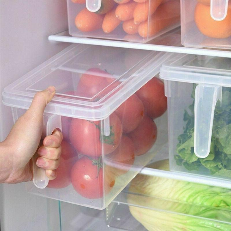 kitchen storage box container clear plastic food