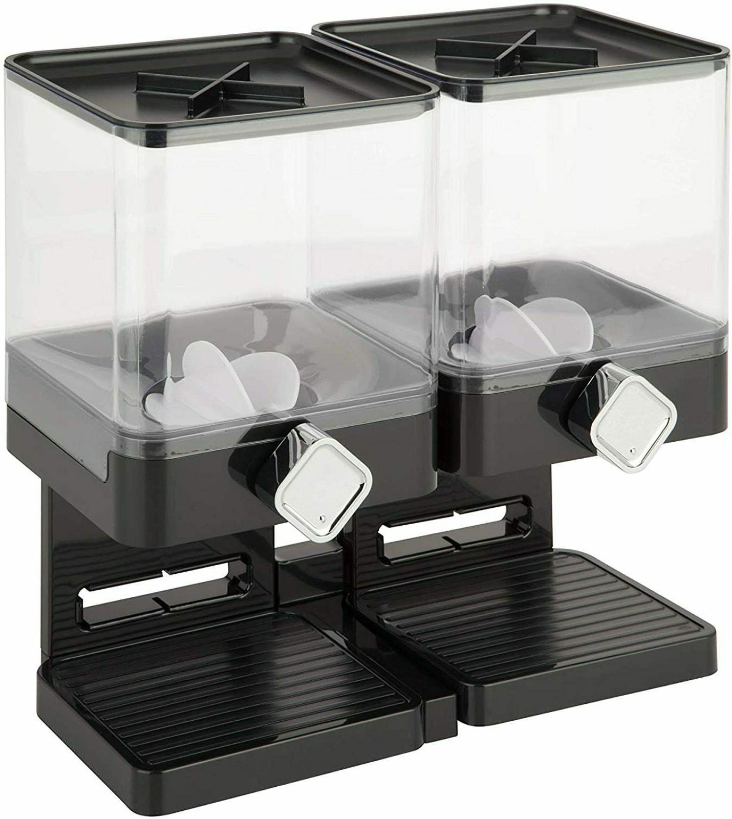 Large Dispenser Double Food Container Kitchen