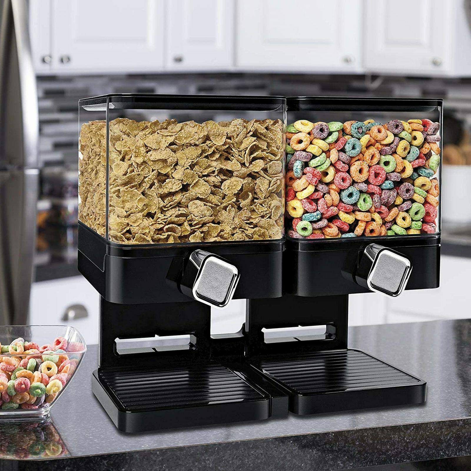 Large Dispenser Double Food Snack Container Canister.