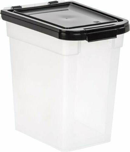 Pet Food Storage Container Airtight Dog Cat Foods Measuring