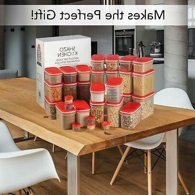LARGEST Set Pc Airtight Food Storage Containers Airt...
