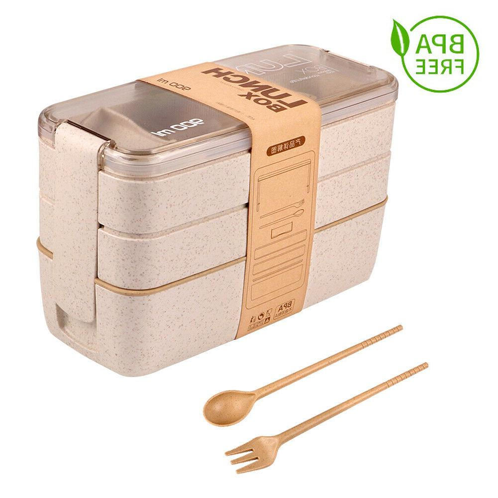 Lunch Boxes Bento Layer Food Storage Container New