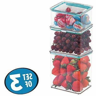 MDesign Airtight Stackable Pantry Food -