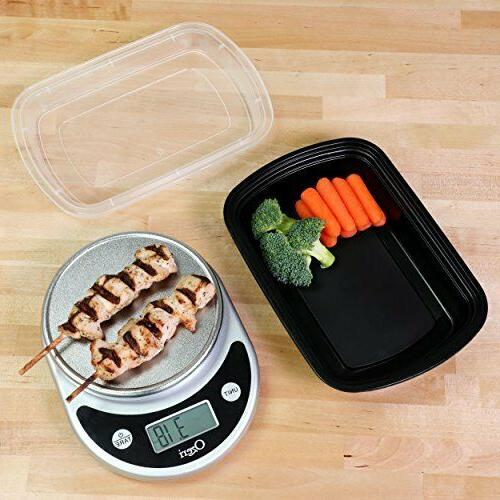 Meal Containers Compartment Lids Storage 15pk