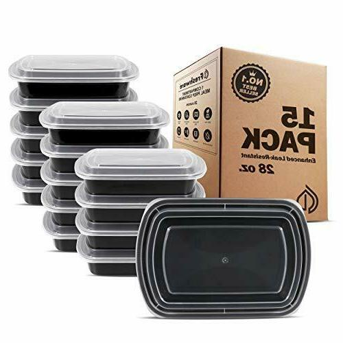 meal prep containers 1 compartment with lids