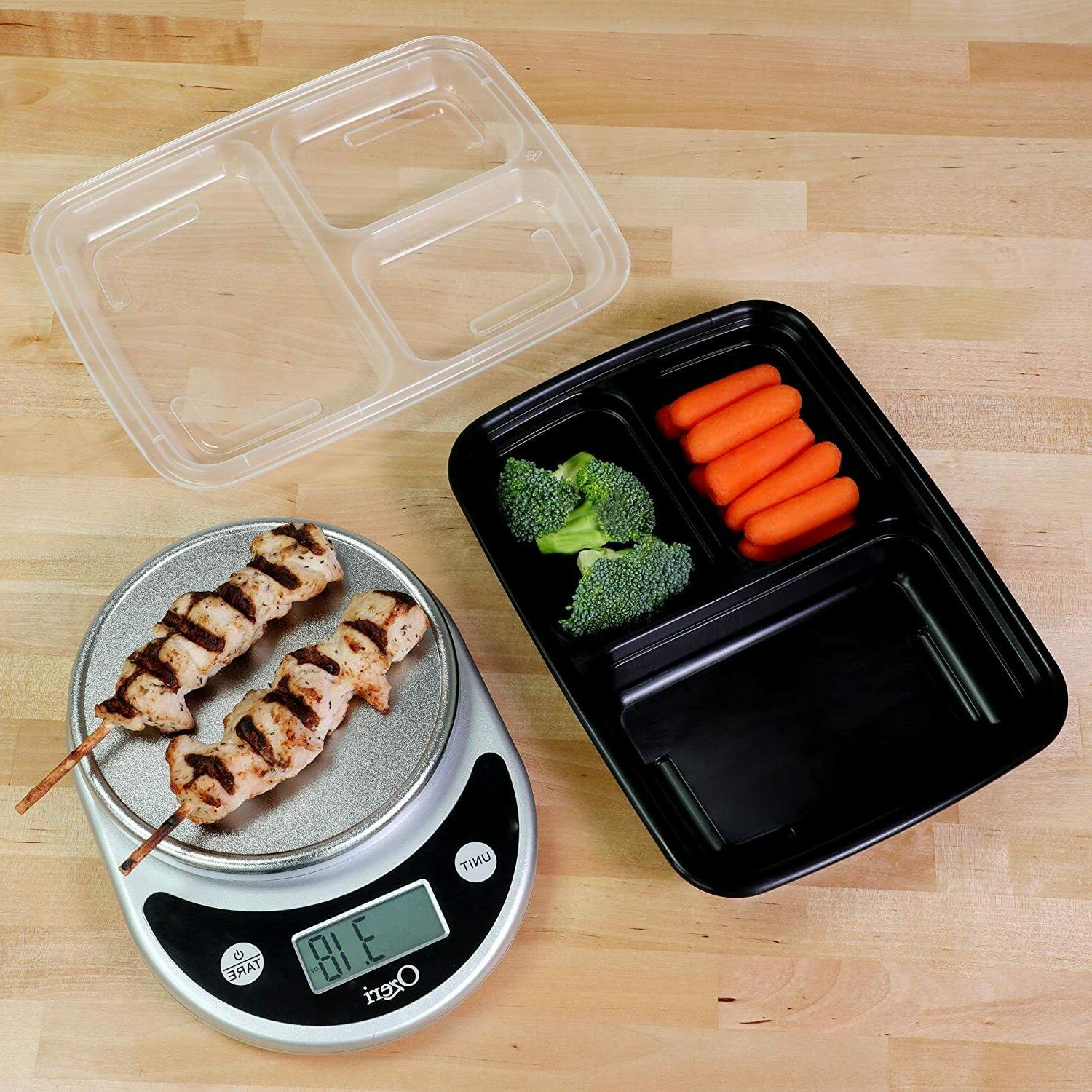 Meal Prep Compartment with Lids Food Storage Box 21Pack