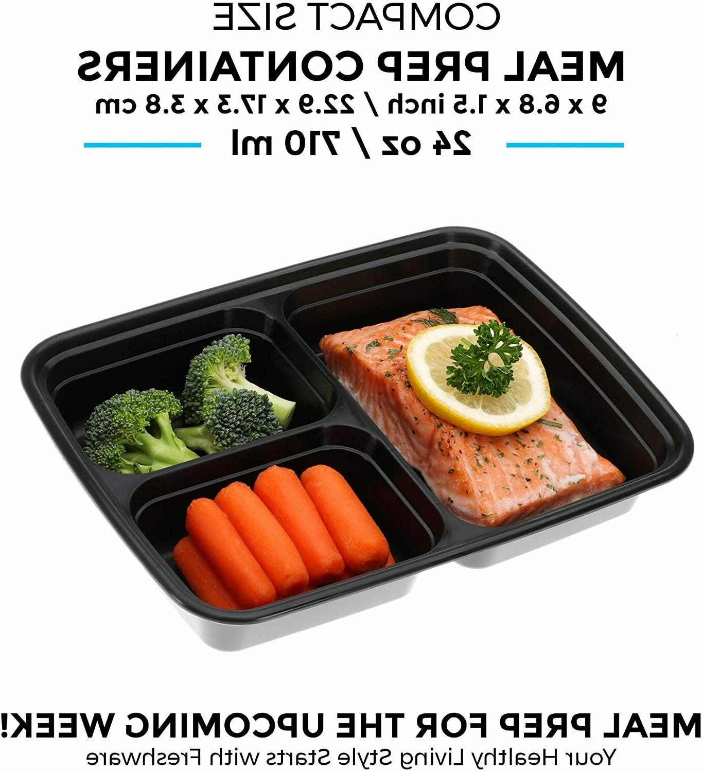 Meal Containers Compartment with Storage Bento Box 21Pack