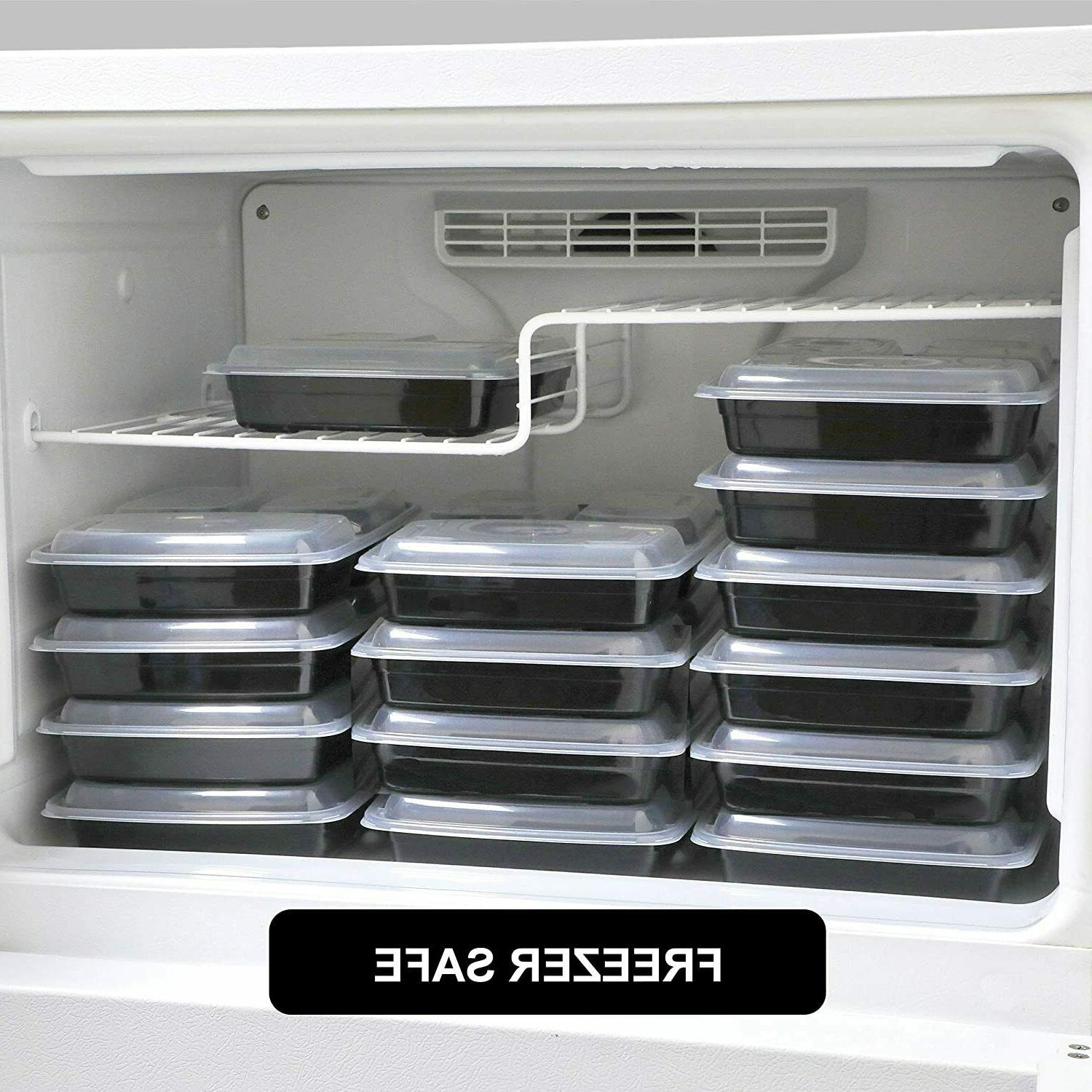 Meal Prep Compartment with Lids Food Storage Bento Box 21Pack