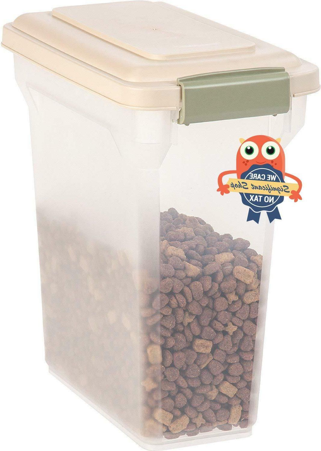 Pet Food Storage Container Dog Cat Lid Seal Fresh 10 Lbs Dry