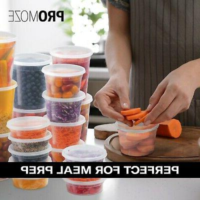 Plastic Storage Containers With Leak-Proof 48 Oz |