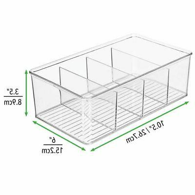 mDesign Pantry Food Storage 4 Sections