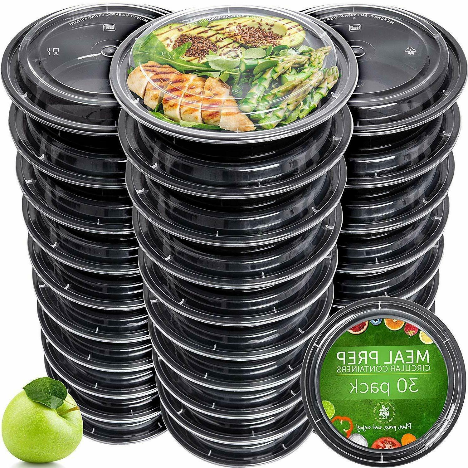 Meal Prep Containers Reusable Plastic Container with Lids Di