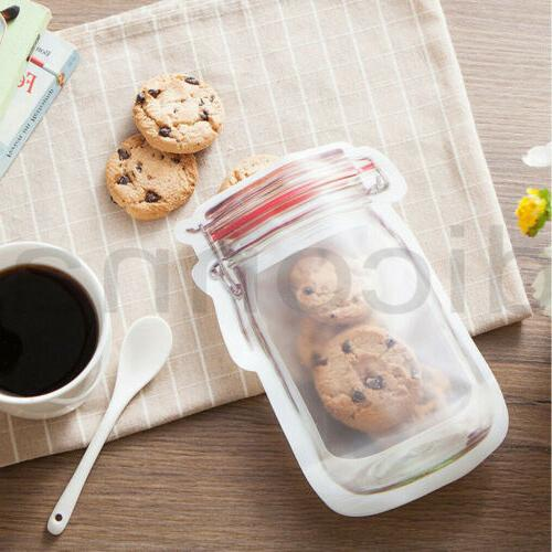 Reusable Silicone Storage Bag Zip Seal Leakproof Fridge Container