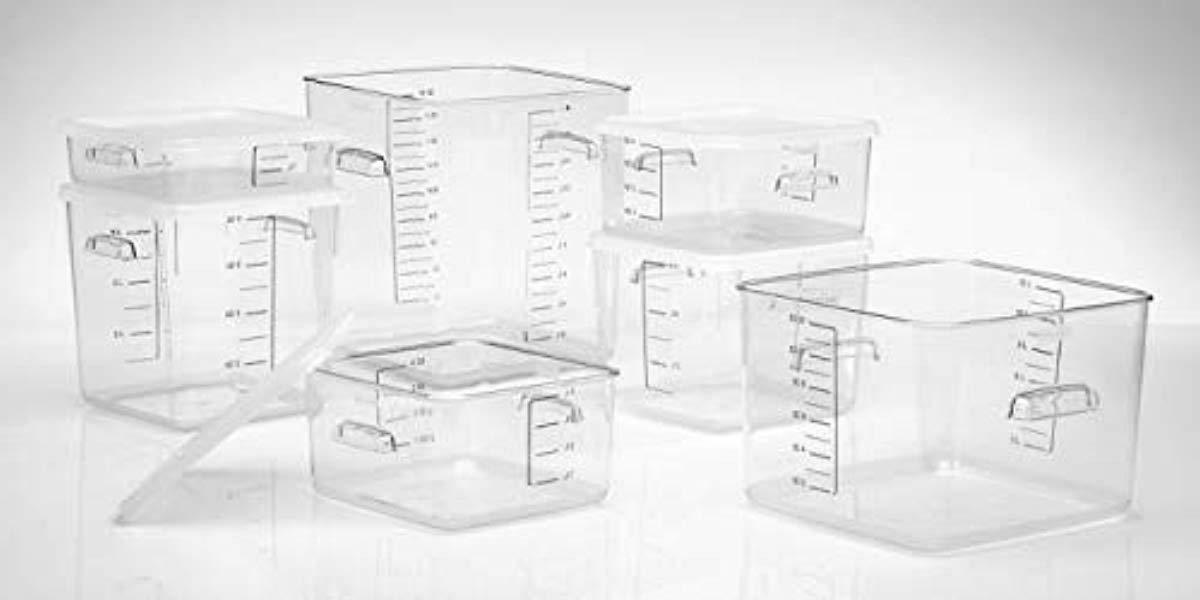 Rubbermaid Commercial Kitchen Products Plastic Space Saving Food Storage