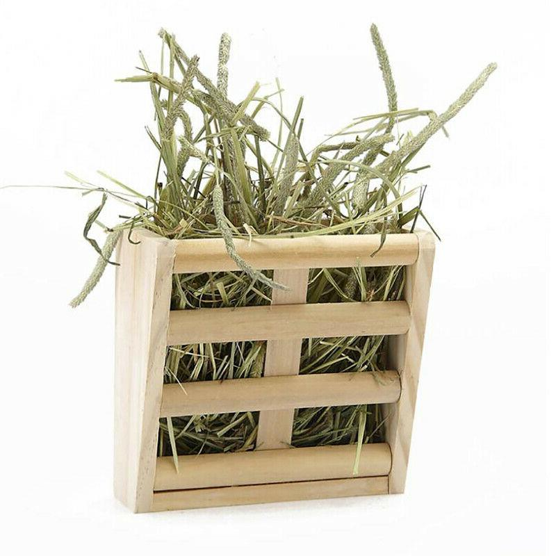For Small Animals Storage Rack Grass Stand Dispenser Hay 6T
