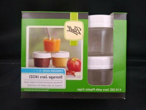 Ball Jars PK Caps Freezer Safe 4 oz. Food, Canning, Craft